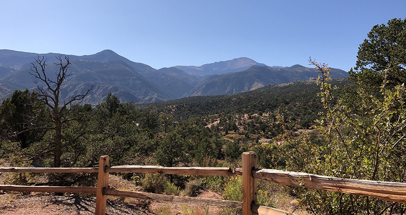 Pikes Peak from the Garden of the Gods