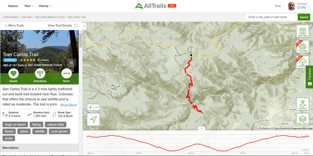 AllTrails Colorado   San Carlos Trail