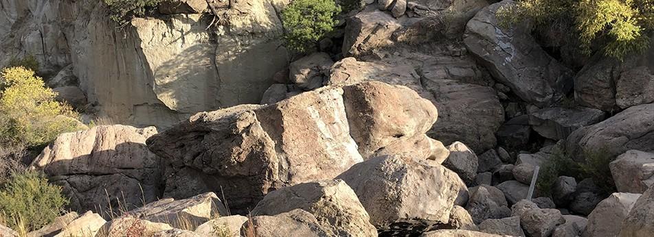 Chunk of Castlewood Dam Downstream