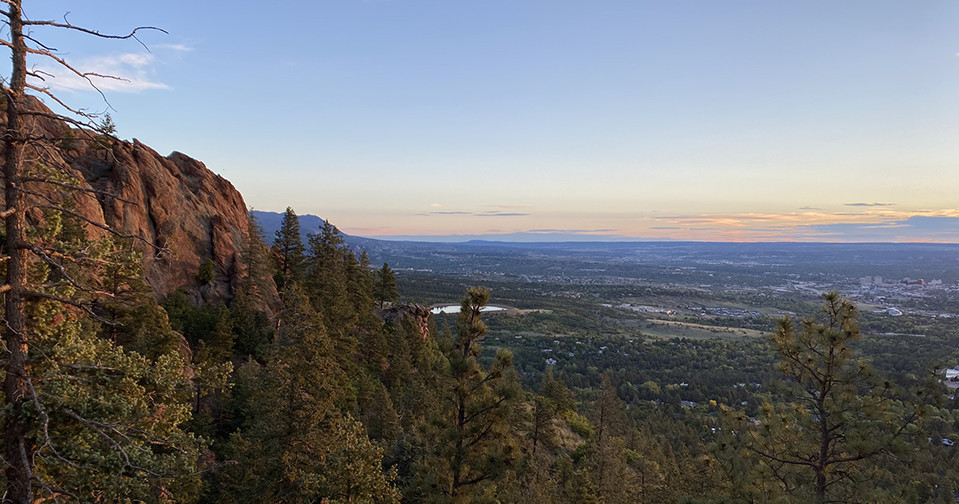 Sunrise over Colorado Springs