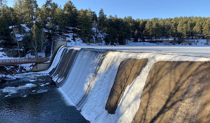 Evergreen Lake Dam in Colorado