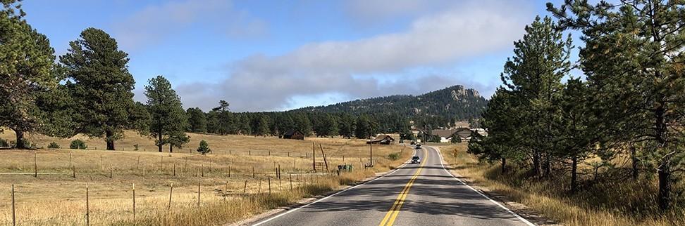 Drive to Elk Meadow Trail