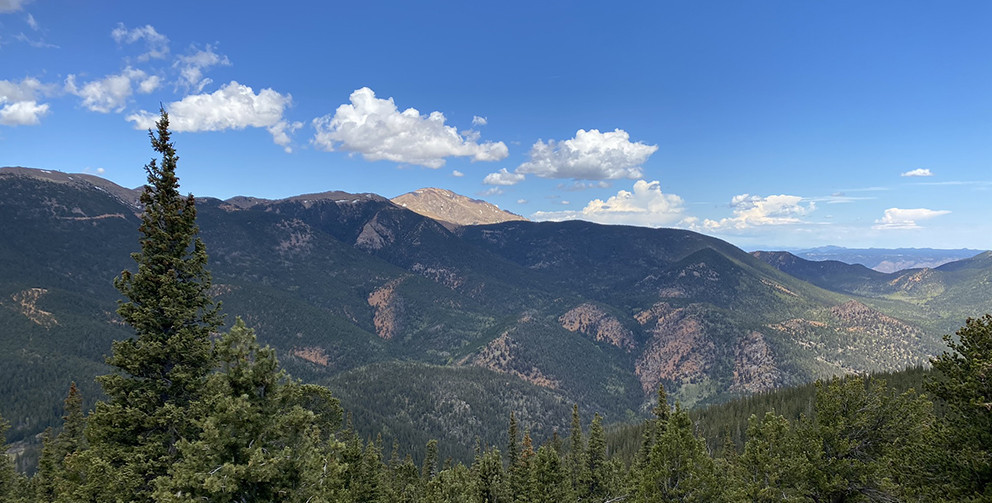 Pikes Peak from Mount Rosa