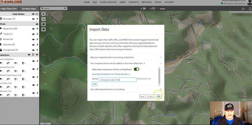 GPX Import options