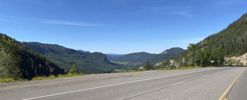 Drive towards Pagosa Springs Colorado