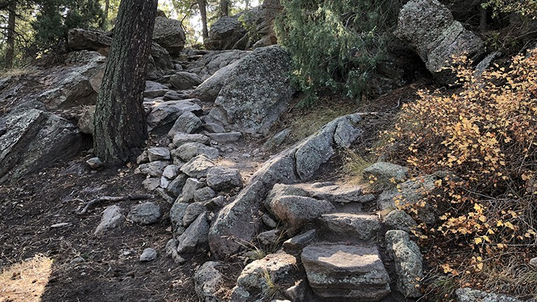 Castlewood Canyon Rock Stairs