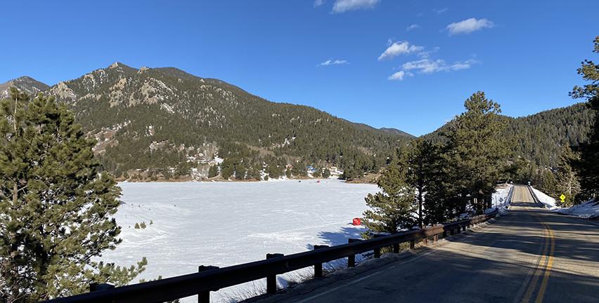 Ice fishing on San Isabel Lake