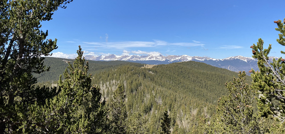 Rocky Mountains to the West