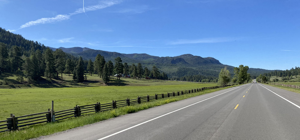 Ranch with Wooden Fences Northeast of Pagosa Springs