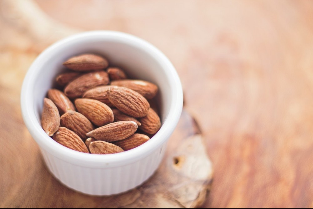 Small cup of Almonds