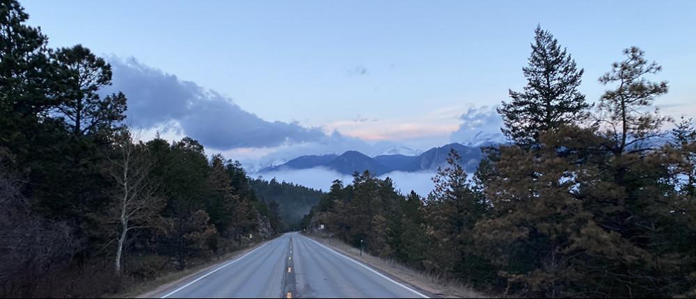 Drive to Estes Park Colorado