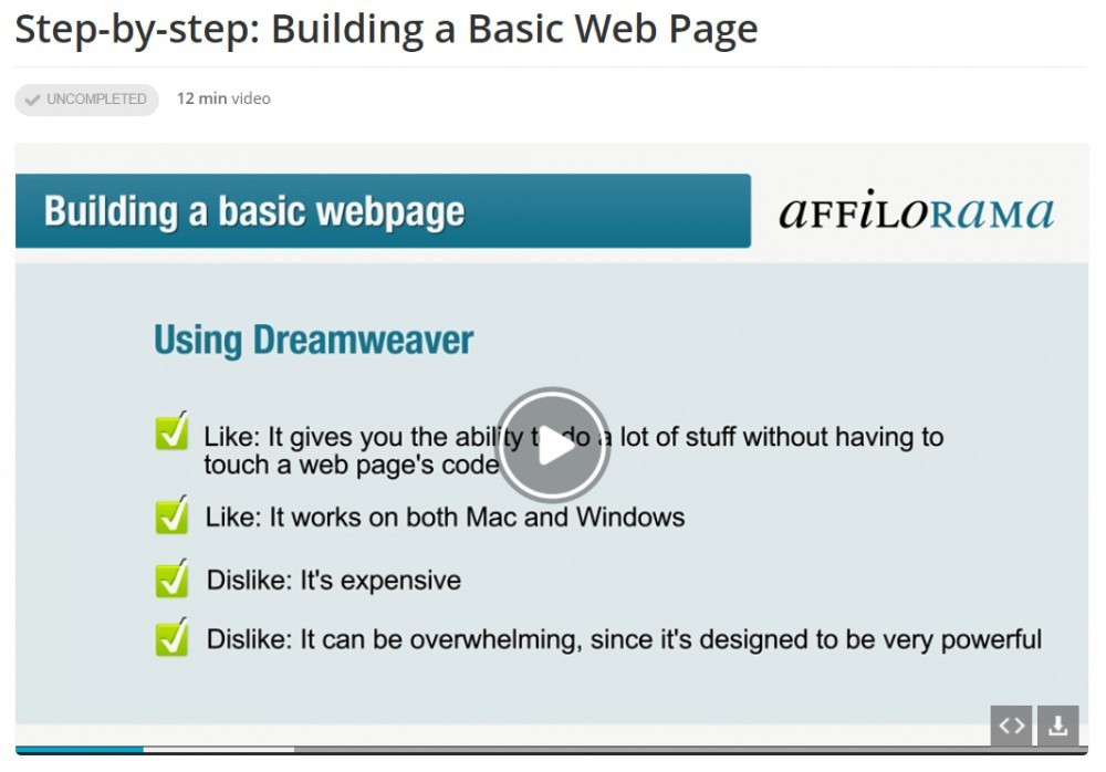 Lesson 4 building a web page