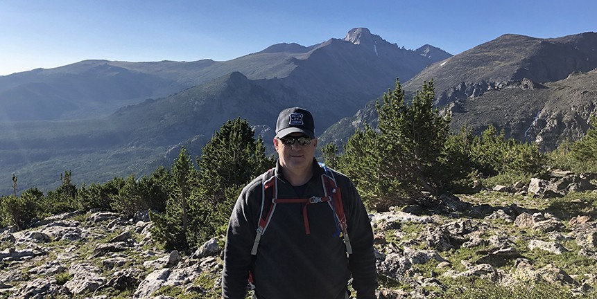 Rick Belden in the Rocky Mountain National Park