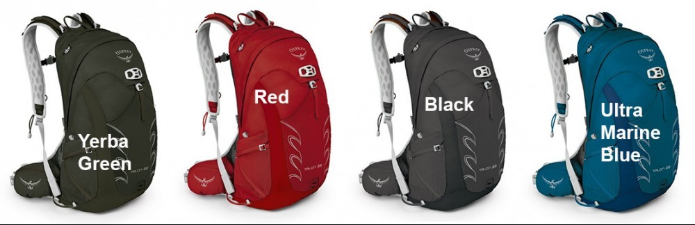 Osprey Talon 22 Pack Colors