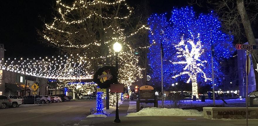 Downtown Castle Rock in December
