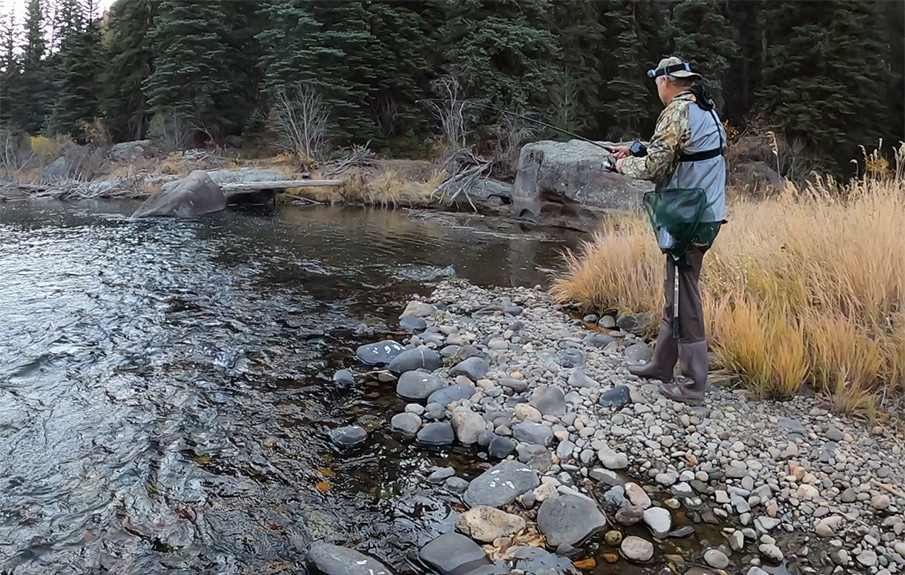 Trout Fishing on the South Fork Rio Grande River