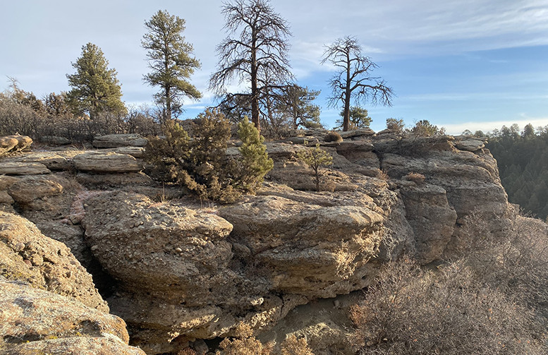 Mitchell Creek Canyon Trail on Rock Bluff
