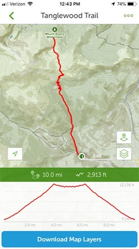 AllTrails App - Map View