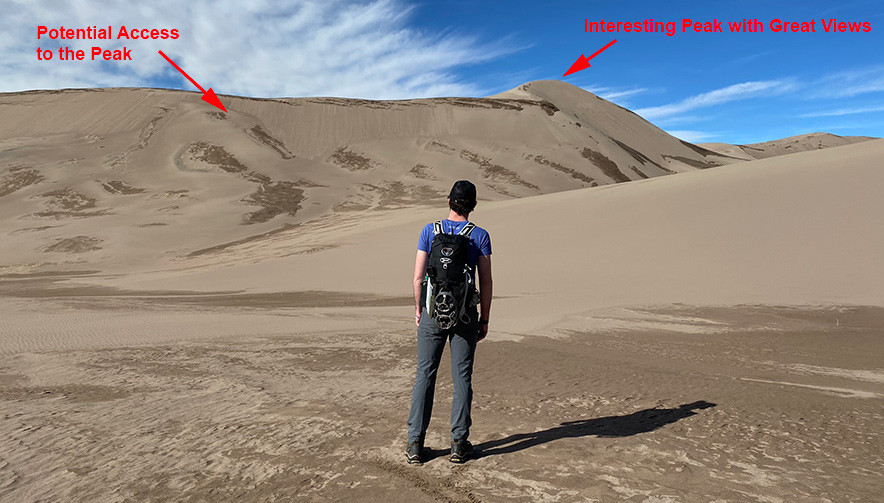 Potential Ascent to the Sand Dune Peak