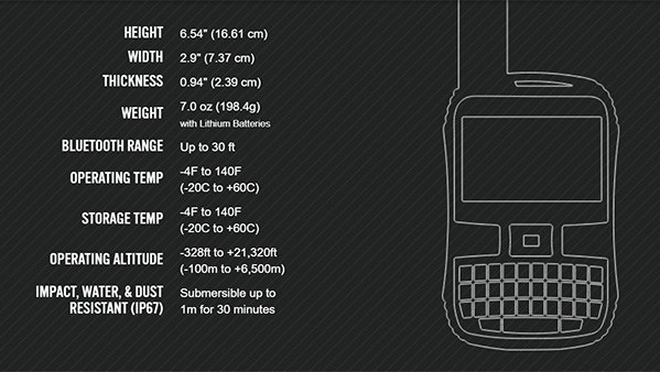 SPOT X Specifications