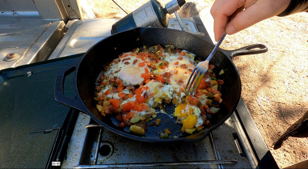 Colorado Camping Breakfast Scramble