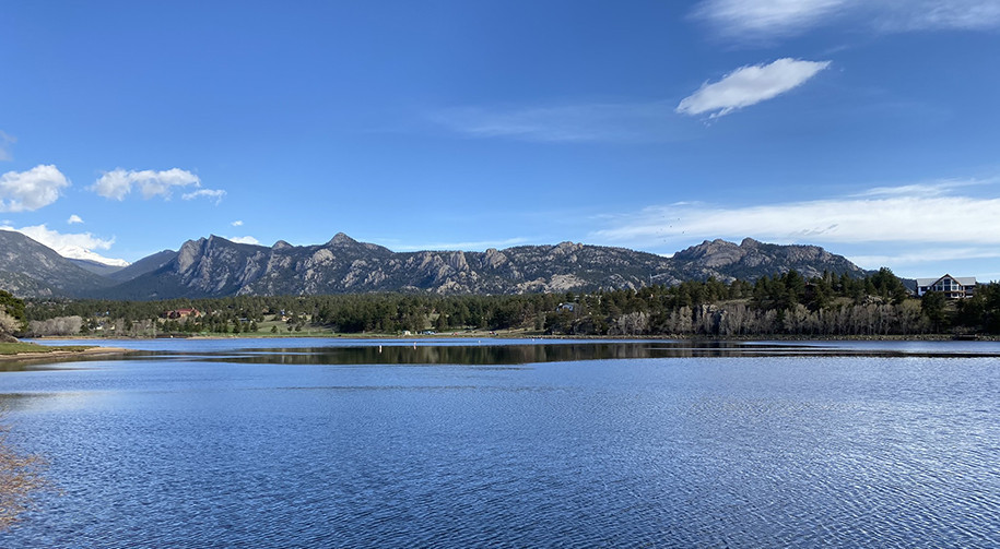 Lake Estes Reflections Gone