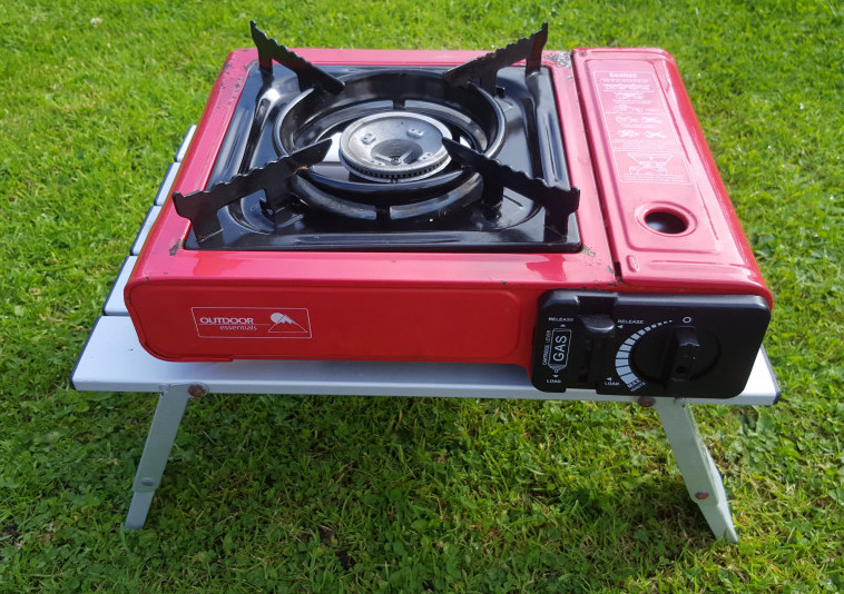 Compact Camping Table with Stove