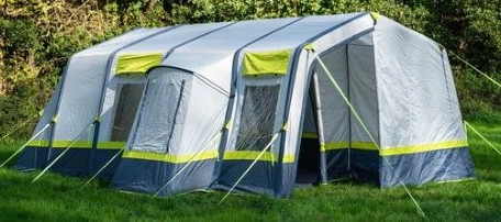 Olpro Home Tent pitched