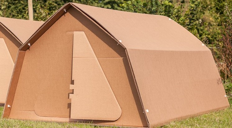 Fully Recyclable Cardboard tent