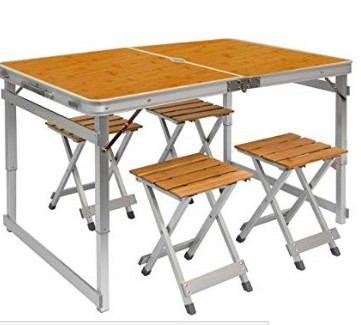 Folding Table and Stools