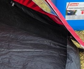 bath groundsheet of porch in coleman ffestival tent