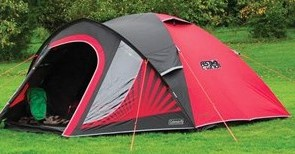 pitched coleman festival tent