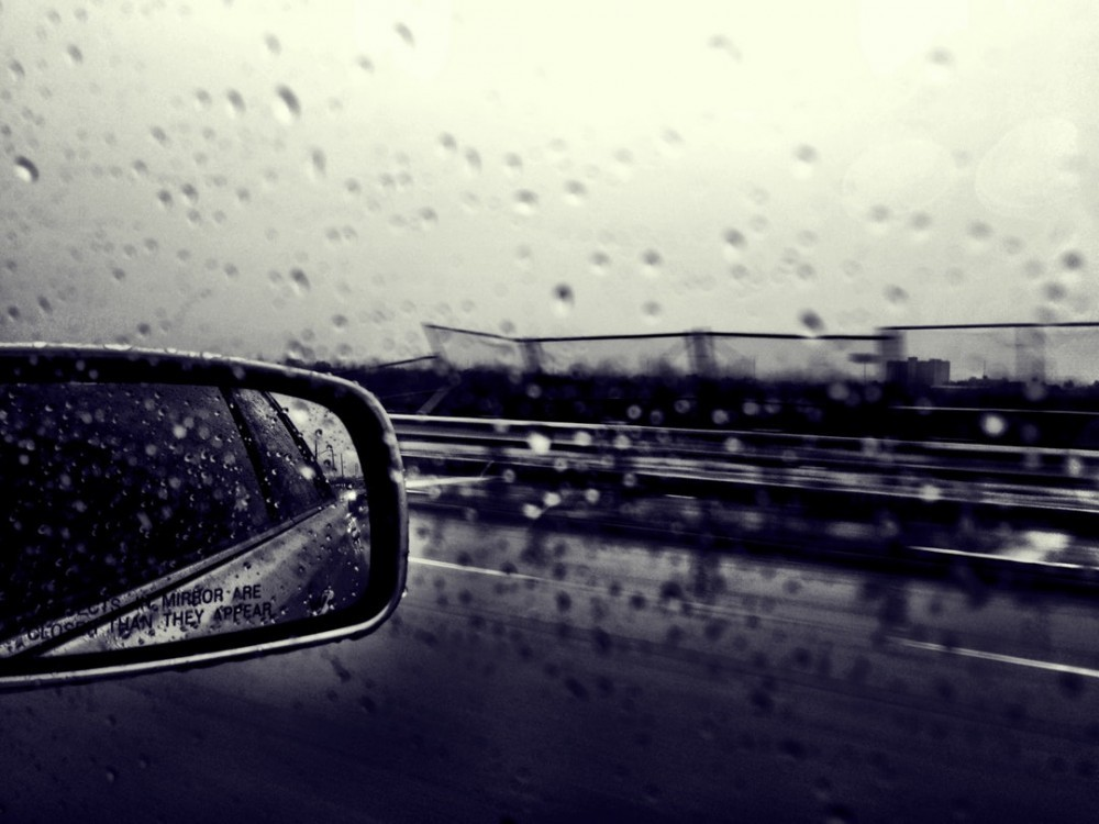 Raining while driving