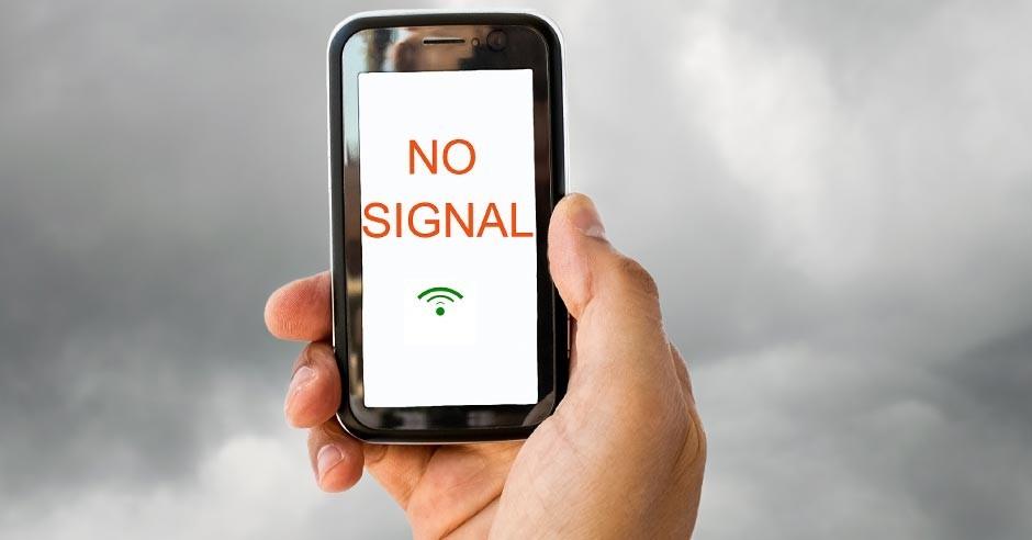 No cell signal