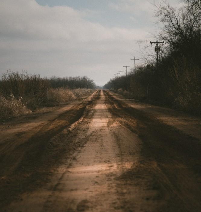 Muddy road...