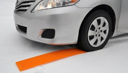 Orange Portable Tow Truck tire traction device for ice snow mud sand