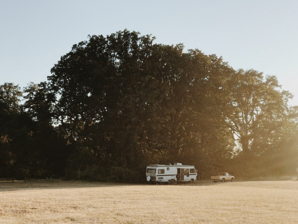RV in field