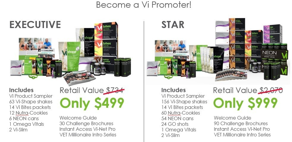 Visalus pyramid scheme starter kits