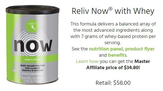 Reliv review product