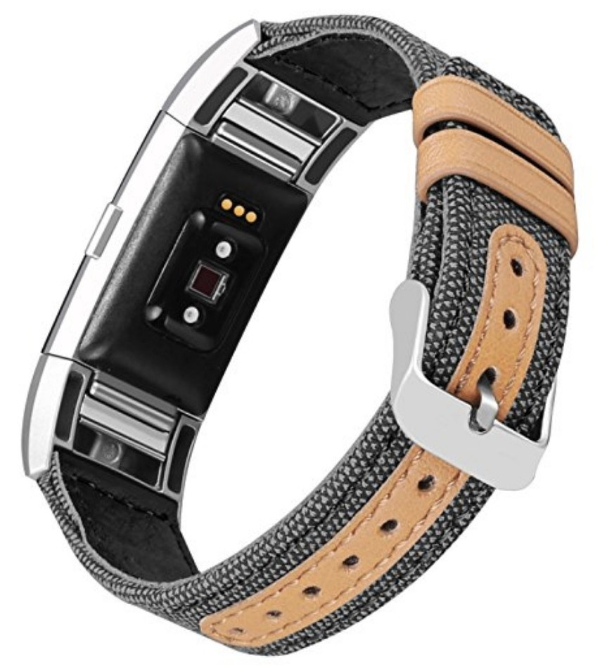 Fabric and Leather Fitbit Charge 2 Band
