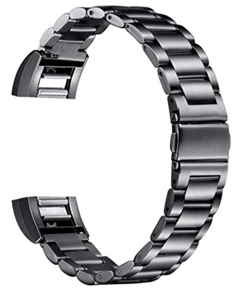 Stainless Steel Band for Men Fitbit Charge 2