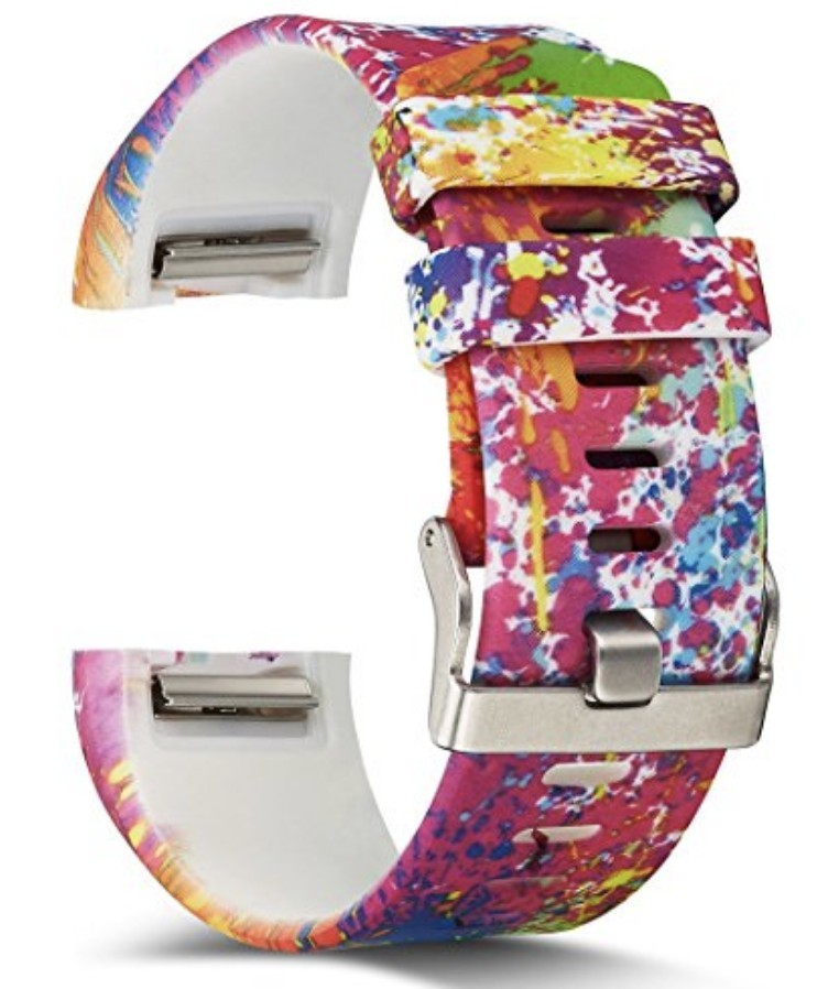 Printed Silicone Fitbit Charge 2 Band