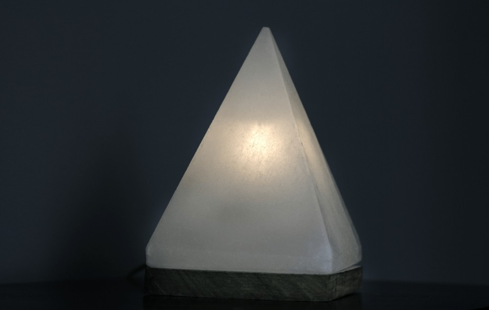 White Pyramid Salt Lamp