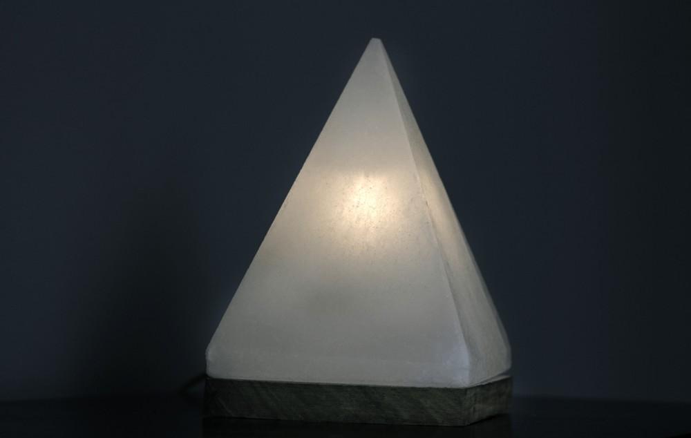 White Pyramid Salt Lamp