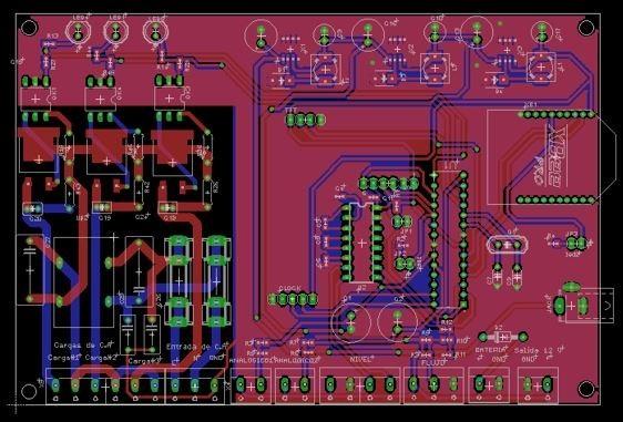 Imagen de un diseño en EAGLE de Auto desk