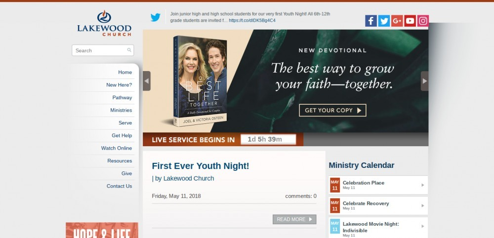 how to build a church website