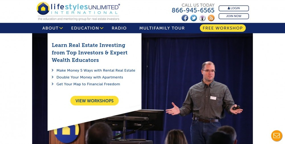 Lifestyles Unlimited Review | A Glance at the Website Homepage