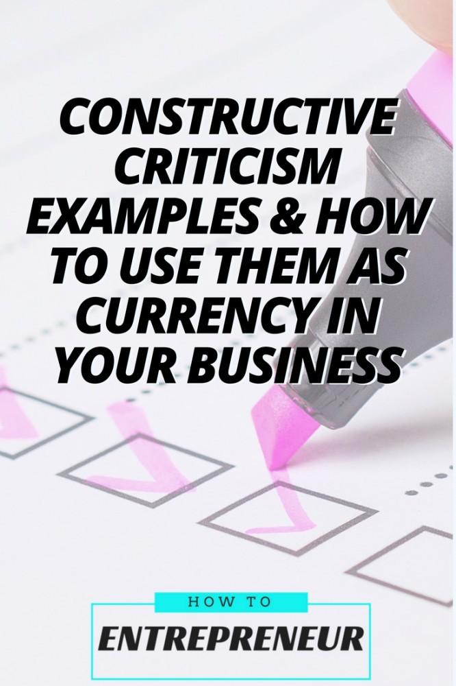 constructive criticism examples