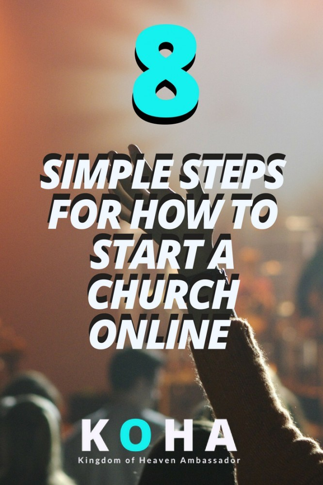 how to start a church online