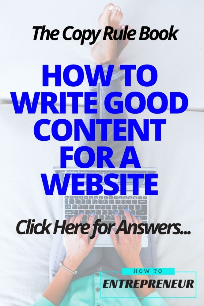how to write good content for a website